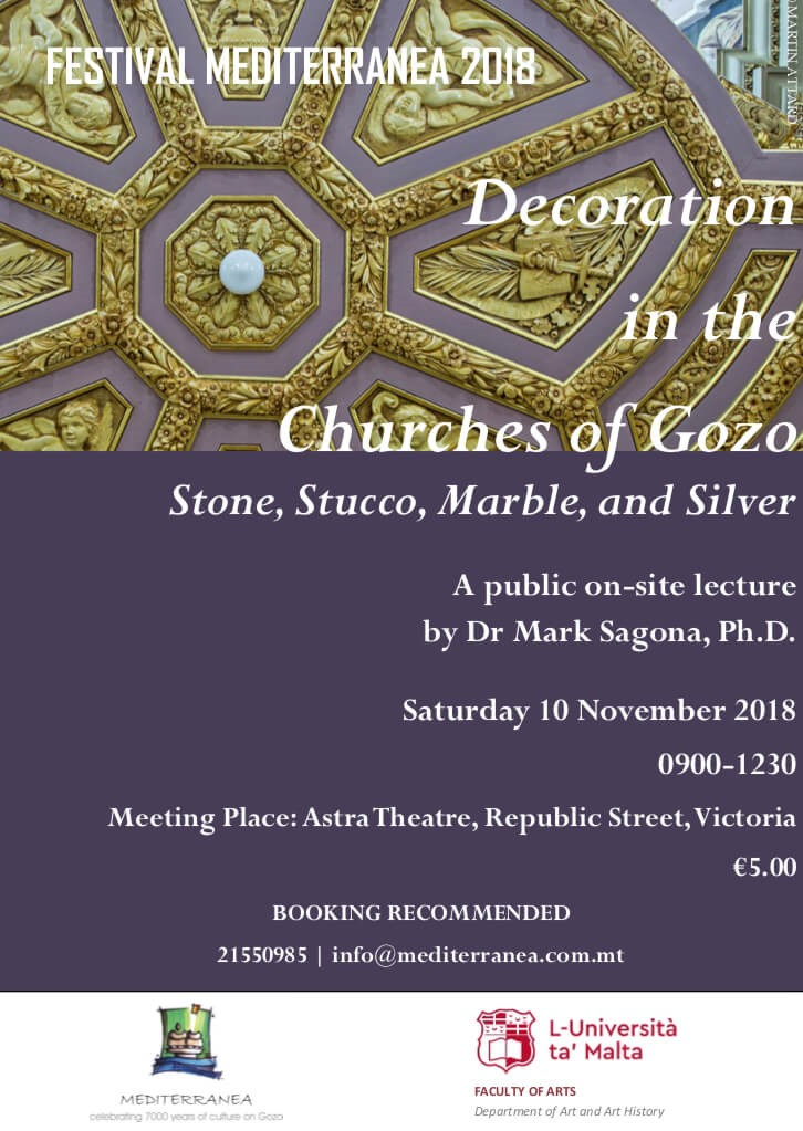 Decoration in the churches of Gozo: Stone, Marble Stucco and